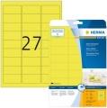 Etiketten 63.5x29.6mm neon-gelb HERMA 5140