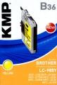 Tinte Brother LC-985y kompatibel KMP B36