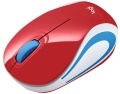 Maus Logitech Mouse M187 rot kabellos USB