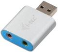 USB-Adapter an Sound I-TEC U2AMETAL Farbe: Silber