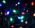 LED Lichterkette 80er bunt 16m für Innen und Außen