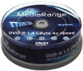 DVD-R Mediarange Mini 10er Spindel