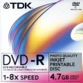 DVD-R TDK 4.7 GB 10er Jewel Case printable 8x