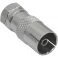 SAT-Kabel Adapter F-Stecker (SAT) auf IEC-Buchse (Antenne)