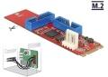 Adapter M.2 auf 2x USB3.0 Pfostenstecker DeLOCK