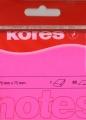 Haftnotiz 75x75 mm 100 Blatt neon-magenta KORES H47075