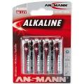 Batterie AA/R6/Mignon Ansmann Alkalie 4er Pack (**