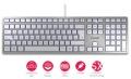 Tastatur Cherry KC 6000 Slim Silber USB