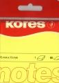 Haftnotiz 75x75 mm 100 Blatt neon-gelb KORES N47076