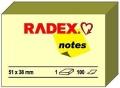 Haftnotiz 51x38 mm 100 Blatt gelb Radex 821005