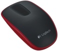 Maus Logitech Cordless Mouse T400 rot mit Zone Touch