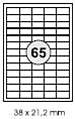 Etikett  38x21,2mm weiß Inkjet/Laser/Copy KORES