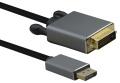 VGA-Kabel Displayport an DVI 1m S-S Helos