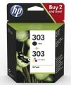 Tinte HP 3YM92AE No. 303 Pack schwarz + color