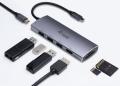 USB-Adapter C an HDMI, 3xUSB3.0, PD, Cardreader