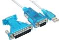 USB-Adapter an seriell 9/25polig SUB-D