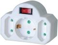 Steckdosen-Adapter 3-fach mit Ein/Aus-Schalter Brennenstuhl