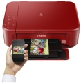 Canon AIO color INK A4 Pixma MG3650S USB/WLAN Rot