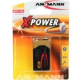 Batterie 9V Block Alkali Ansmann X-Power (**
