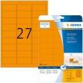 Etiketten 63.5x29.6mm neon-orange HERMA 5141