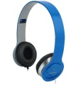 Headset Logilink Stereo mit Mikrofon 1x 3,5mm Blau