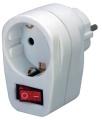 Steckdosen-Adapter 220V mit ein/Aus-Schalter Brennenstuhl