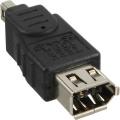 Firewire-Adapter 6polig Buchse auf 4polig Stecker
