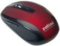 Maus ROLINE Rot/Schwarz optisch, kabellos 1600 dpi