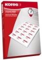 Etiketten 190x38mm weiß Inkjet/Laser/Copy KORES - 80 Seiten